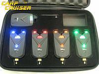 Набор сигнализаторов поклевки Carpcruiser FA213-4 с радио пейджером, анти вор, фото 1