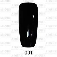 Гель-лак цветной Adore Professiona № 001 (черный)l, 9 мл.