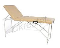 Trio Premium Массажный стол-кушетка трехсекционный складной  Бежевый