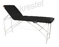 Trio Premium Массажный стол-кушетка трехсекционный складной  Черный