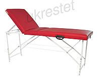 Trio Premium Массажный стол-кушетка трехсекционный складной  Красный