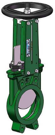 Задвижка ножевая (шиберная) Tecofi Ду400 VG3400-01NI, фото 2