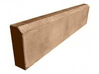 Бордюр тротуарный, поребрик LAND BRICK коричневый 500х200х45 мм