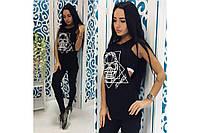 Женский спортивный костюм-фитнес Тройка