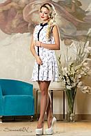 Красивое  летнее  платье 2147 белый