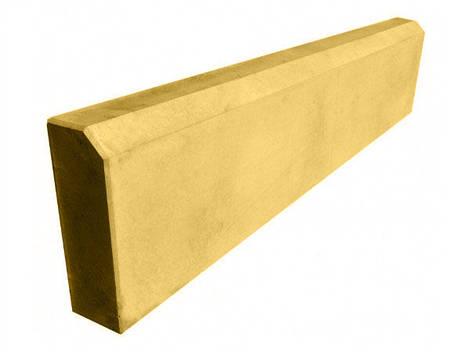 Бордюр тротуарный, поребрик LAND BRICK желтый 500х200х45 мм