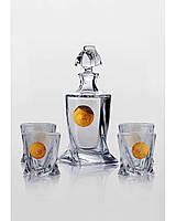 Набор для виски Quadro Edem золото (4+1)