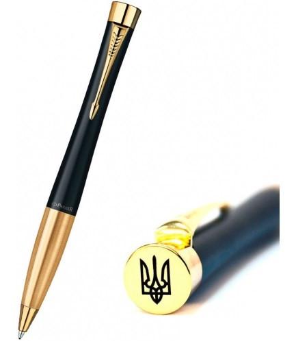 Ручка шариковая Urban мат. черн. с позол. Тризуб, 20 232Ч_TR(2)