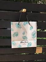 Подарочный пакет Пальмовые Листья 22 см