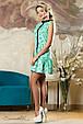 Красивое  летнее  платье 2145 зеленый, фото 3