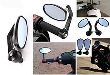 Боковые мото зеркала в торец руля на Streetfighter, фото 2
