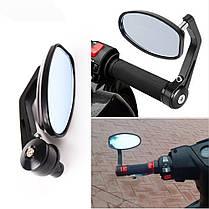 Боковые мото зеркала в торец руля на Streetfighter, фото 3