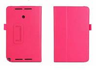 Ярко-розовый чехол для Asus VivoTab note 8 M80TA из синтетической кожи.