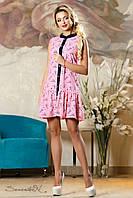 Красивое  летнее  платье 2143 розовый