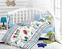 Постельное белье для детской кроватки Cotton Box  Dino Mavi