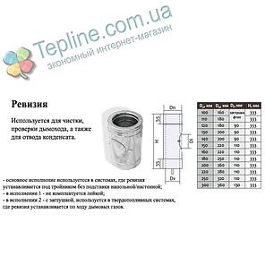Ревізія-для димаря сендвіч d 130 мм; 1 мм; AISI 304; нержавійка/оцинкування - «Версія-Люкс», фото 2