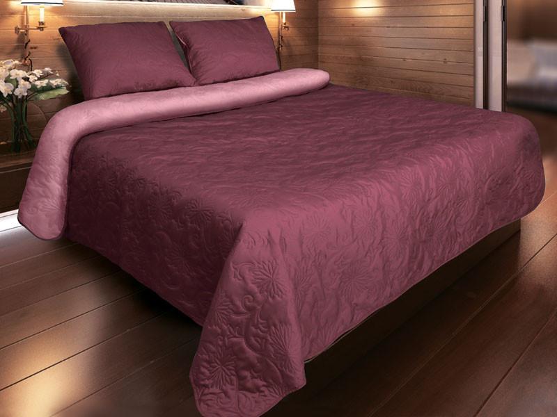 """Покрывало на кровать """"Vintage"""" P-02 Бордовый 220 х240"""