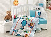 Постельное белье для детской кроватки Cotton Box  Ucan Dostlar Mavi