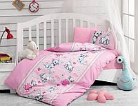 Постельное белье для детской кроватки Cotton Box Miyav Pembe