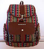 Женский рюкзак орнамент этно. Городской мужской рюкзак. Сумка из холста. Портфель. СР09, фото 1
