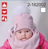 Комплект для девочки шапка и снуд с искусственным мехом 13-162002
