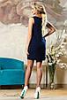 Красивое  летнее  платье 2142 темно-синий, фото 4