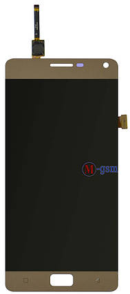 LCD модуль Lenovo Vibe P1 (P1a42) золотистый, фото 2