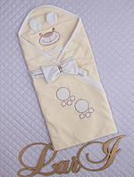 """Конверт одеяло для новорожденного """"Мишутка""""-ЛЕТО."""
