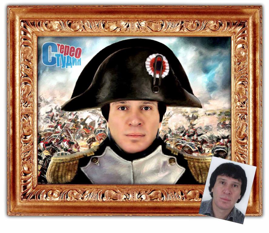 Портрет сотрудника в образе Наполеона 14