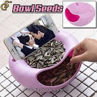 """Тарелка для семечек с подставкой под телефон - """"Bowl Seeds"""""""
