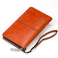 Baellerry Leather, мужской коричневый кошелек-клатч на руку