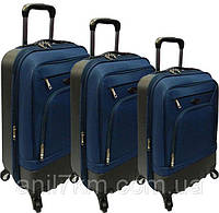 Комплект 3-ка турецких чемоданов фирмы CCS на четырёх колёсах