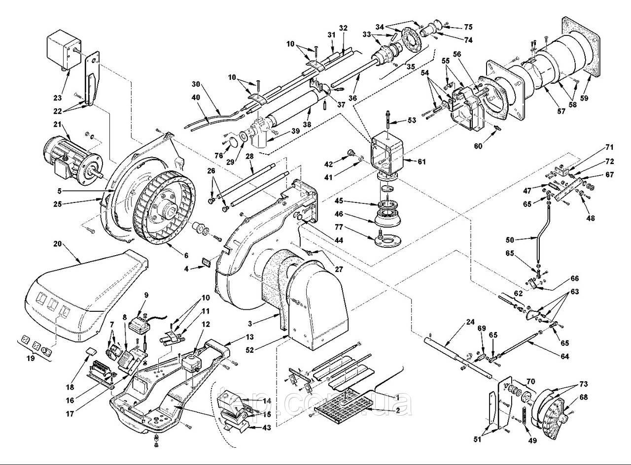 Запасні частини до пальника Riello RS(MZ)