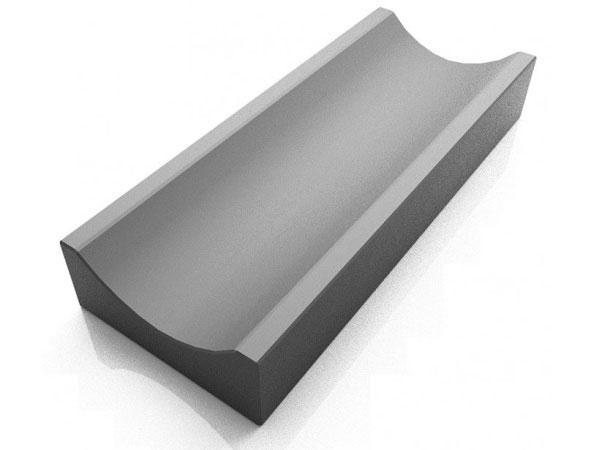 Водосток, отлив бетонный LAND BRICK 350х160х60 мм серый