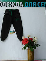 Детские спортивные штанишки из хлопка, Турция, на манжете, серые, размеры 110, 116, 122, 128
