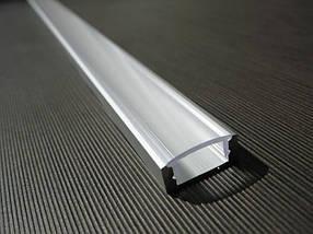 Комплект. Профиль для светодиодной ленты накладной 7х16 мм. ЛП7. Прозрачный. Неанодированный., фото 3