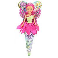 Цветочная фея Роза в розово-салатовом платье 25 см Funville (FV24226-2)