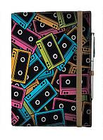 Блокнот на резинке Rainbow Разноцветные кассеты