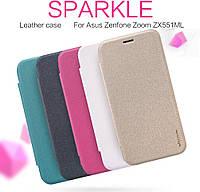 Чехол для Asus Zenfone Zoom ZX551ML - Nillkin Sparkle Series, разные цвета
