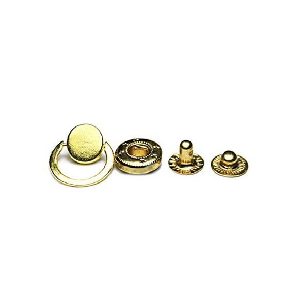 Кнопка маленькая №54-D12.5 с кольцом, нержавеющая.