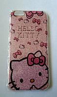 Чехол бампер с блестками Hello Kitty для Iphone 7