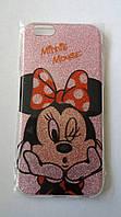 Чехол бампер c блёстками minnie mouse для Iphone 6 6S