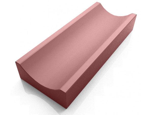 Водосток, отлив бетонный LAND BRICK 340х155х60 мм красный