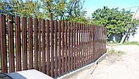 Забор штакетный премиум односторонний 3м*2м,Евроштакетник Харьков