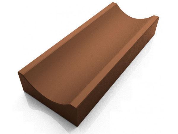 Водосток, отлив бетонный LAND BRICK 340х155х60 мм коричневый