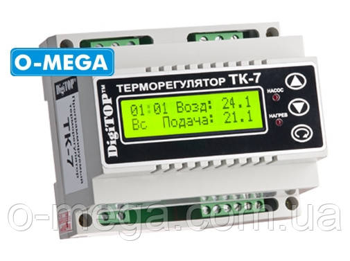 Терморегулятор DigiTOP ТК-7 трехканальный с недельным программатором