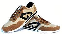 43 р Мягкие и удобные мужские кроссовки коричневые (К-15)
