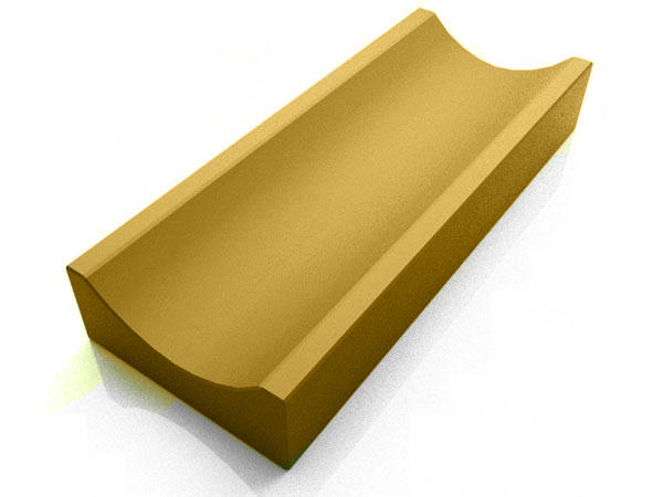 Водосток, отлив бетонный LAND BRICK 350х160х60 мм желтый