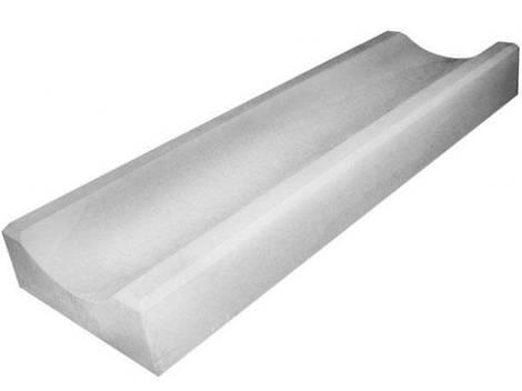 Водосток, отлив бетонный LAND BRICK 590х155х40 мм серый