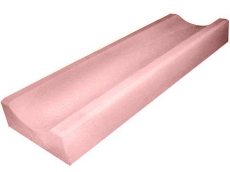 Водосток, отлив бетонный LAND BRICK 590х155х40 мм красный